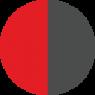 Červená -šedá