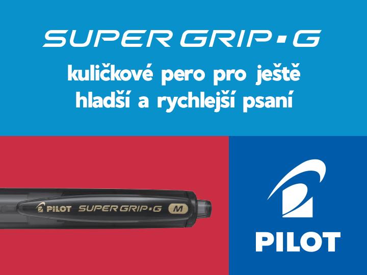 Kuličkové pero Super Grip G Pilot