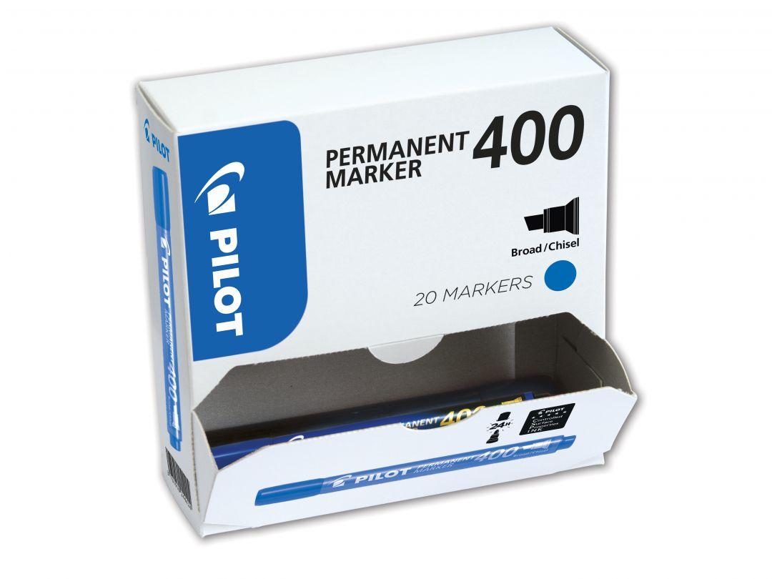 Permanent Marker 400 - Popisovač - XXL balení - Modrá  - Široký hrot (B)