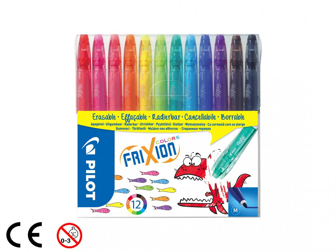 FriXion Colors - Sada 12 ks - Mix barev - Střední hrot (M)