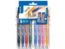 FriXion Ball - Set2Go s 8 Kusy - černá, modrá, červená, zelená, nebeská modř, lila, korálově růžová, meruňková oranžová - Střední hrot (M)