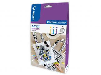 Pilot Pintor - Sada DIY taška - žlutá, fialová, světle modrá - Tenký hrot (F)