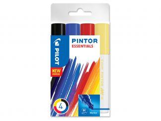 Pilot Pintor - Sada 4 ks - Mix barev - Střední hrot (M)