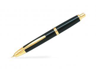 Capless Gold - Černá - Tenký hrot (F) - v dárkové krabičce