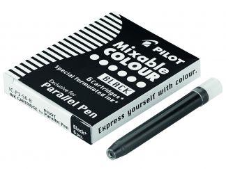 Parallel Pen - Balení 6 ks náplní do plnicích per - černá - Tekutý inkoust
