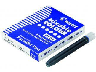 Parallel Pen - Balení 6 ks náplní do plnicích per - Modrá - Tekutý inkoust