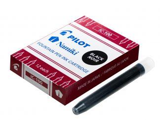 IC-100 - Sada 12 ks náplní do plnicích - Černá - Tekutý inkoust
