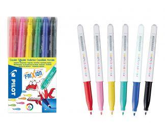 FriXion Colors - Sada 6 ks - Mix barev - Střední hrot (M)