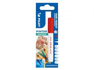 Pilot Pintor - sada 3 vánočních barev - červená, zelená, bílá - Extra tenký hrot (EF)
