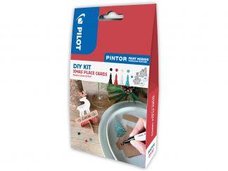 Pilot Pintor - DIY sada se jmenovkami na stůl - černá, červená, bílá, metalická zelená - Tenký hrot (F)