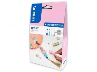 Pilot Pintor - [PINDIYKEYR] - modrá, pastelová zelená, pastelová růžová, zlatá - Extra tenký hrot (EF)